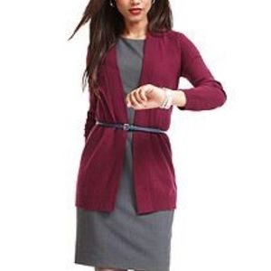 Fluxus Burgundy Short Length Fitted Cardigan Top